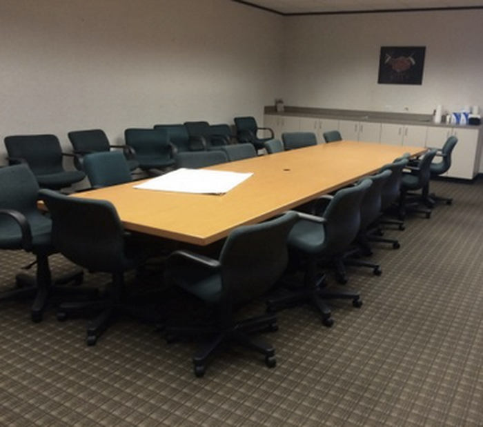 Houston Large Wood Veneer Rectangular Preownedused Conference Table - Large oval conference table