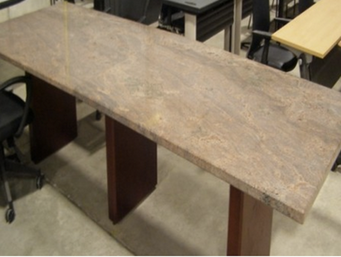 rectangular granite conference table pre owned