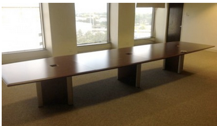 Houston Cherry Wood Preowned Conference Table Office Furniture - Cherry wood conference table